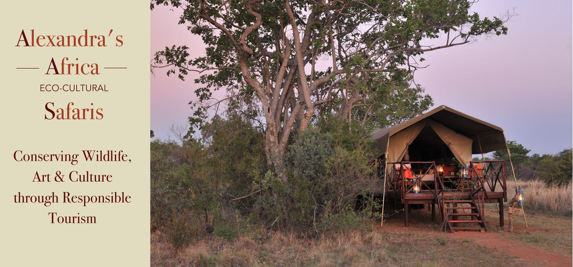 Alexandra's Africa Luxury Tented Accommodation - on our Classic Safari