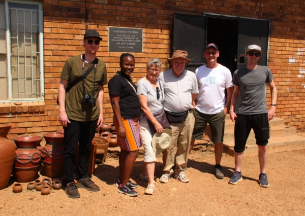 Alexandra's Africa guests outside Mukondeni Pottery