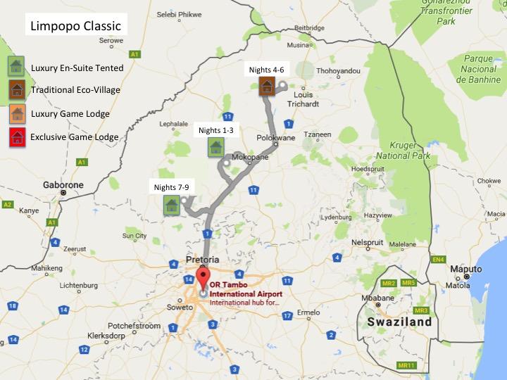 Limpopo Classic Explorer Map
