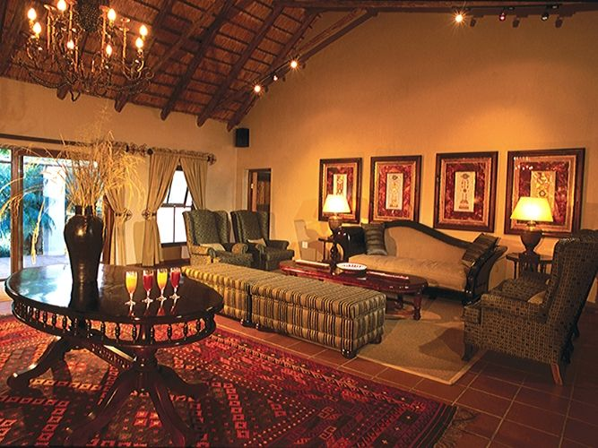 Inside main lodge on Alexandra's Africa In-Style Safari
