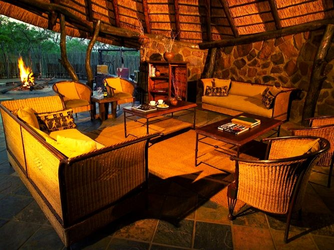 Main living area of guest lodge on Alexandra's Africa photographic Safari