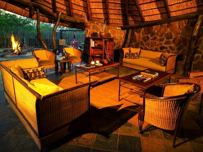 Main living area of guest lodge on Alexandra's Africa Photographic Safari Retreat