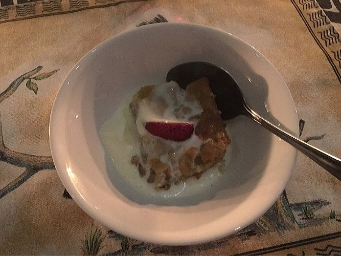 Apple Crumble Dessert on an Alexandra's Africa Safari