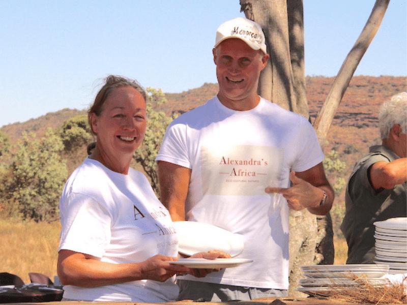 Guests enjoying lunch on Safari