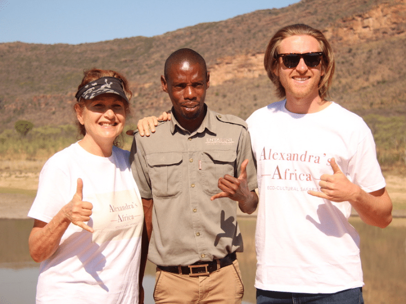 Guests on safari with local game ranger