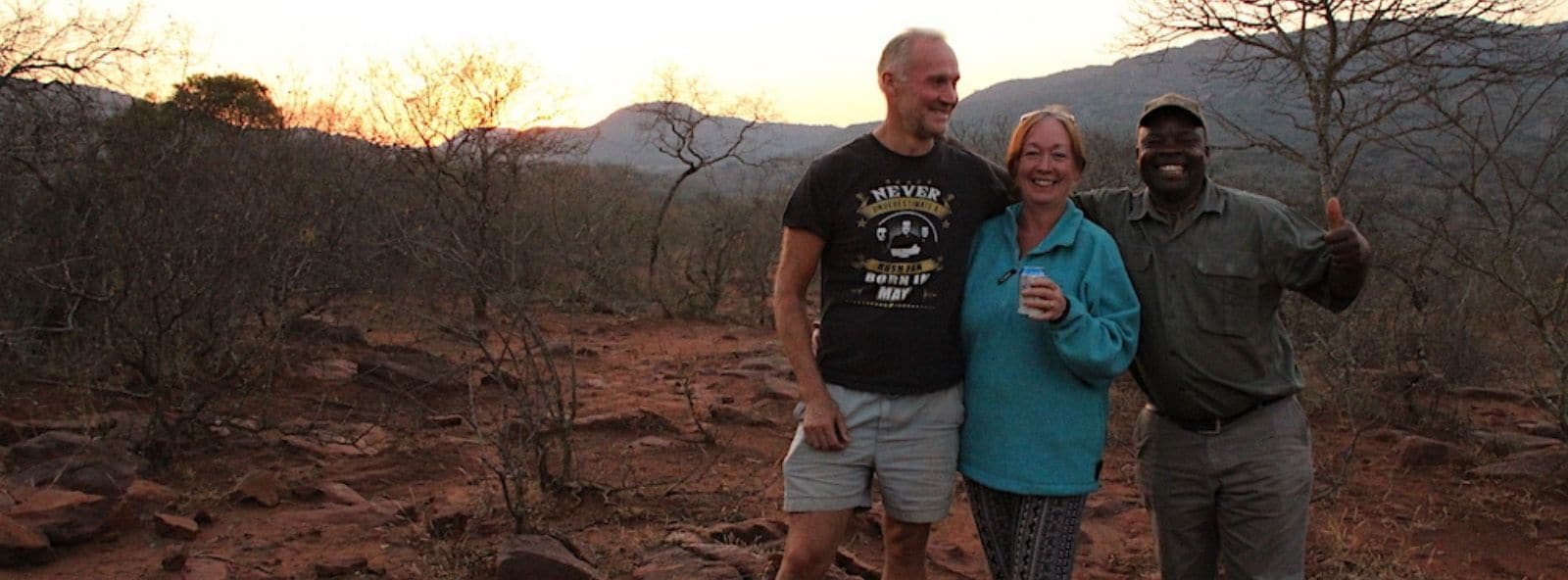 A couple enjoying the evening game drive with game ranger Peter - on an Alexandra's Africa Hosted Safari