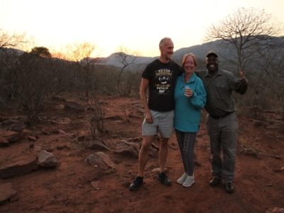 Safari guests with guide