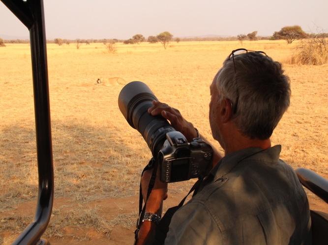 Safari guest with camera