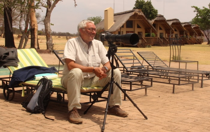 Safari guest with camera