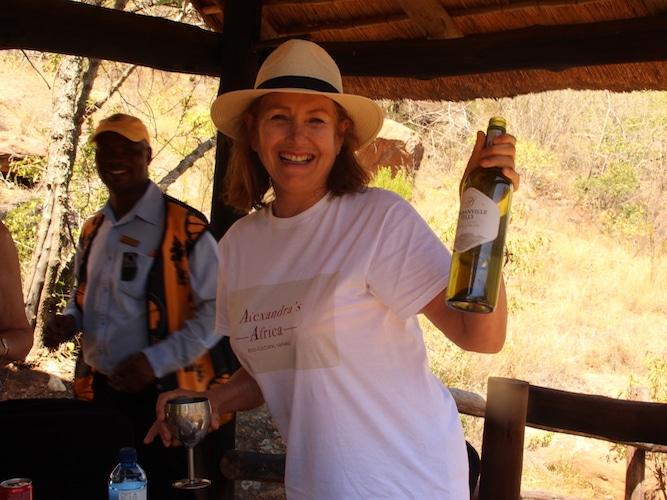 Safari guests relaxing