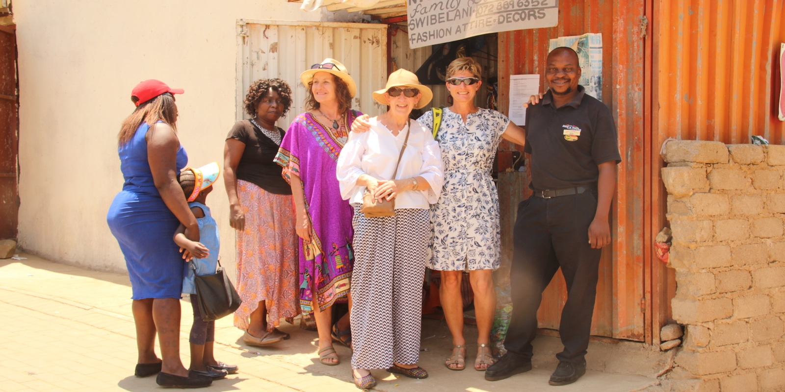 Guests enjoying an Alexandra's Africa community and culture tour
