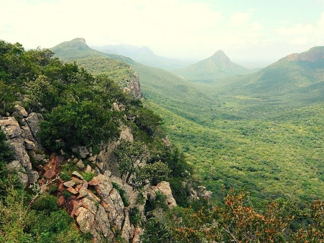 View over the Soutpansberg Mountains at Leshiba