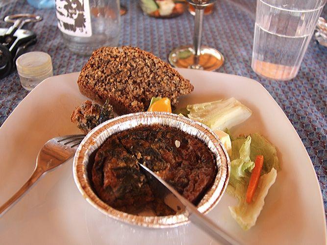 Alexandra's Africa Retreat Lunch - lovely fresh farmhouse quiche