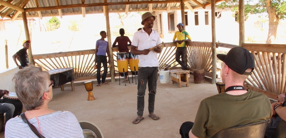 Limpopo Musician Lucky Ntimani talking to Alexandras Africa guests