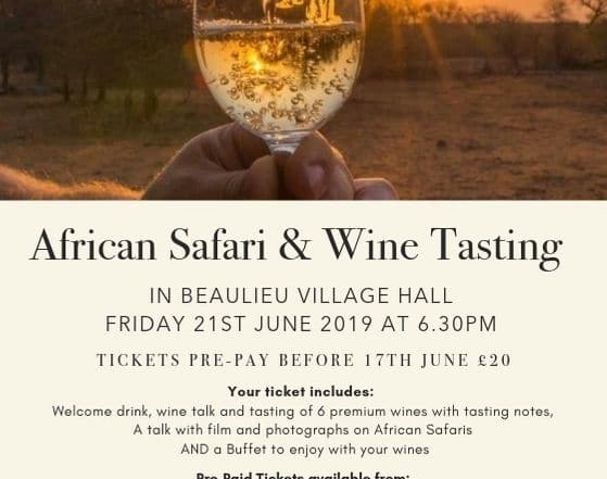 African Safari & Wine Tasting 21June '19