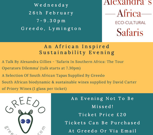 Alexandra's Africa What's On Feb 2020