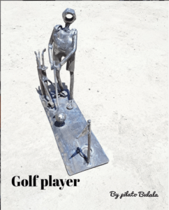 Golf Player Scrapture by Pilato Bulala