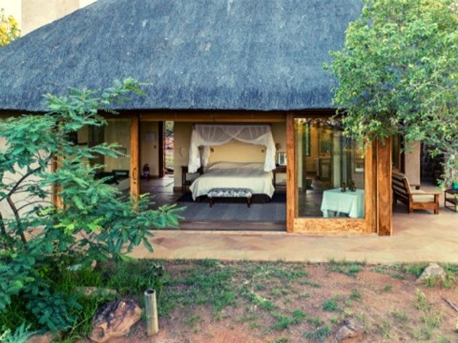 View looking in to the main guest bedroom on an Alexandra's Africa Explorer Safari