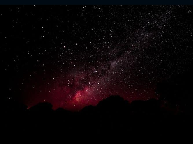 A picture of the Southern Hemisphere Milky Way night skies