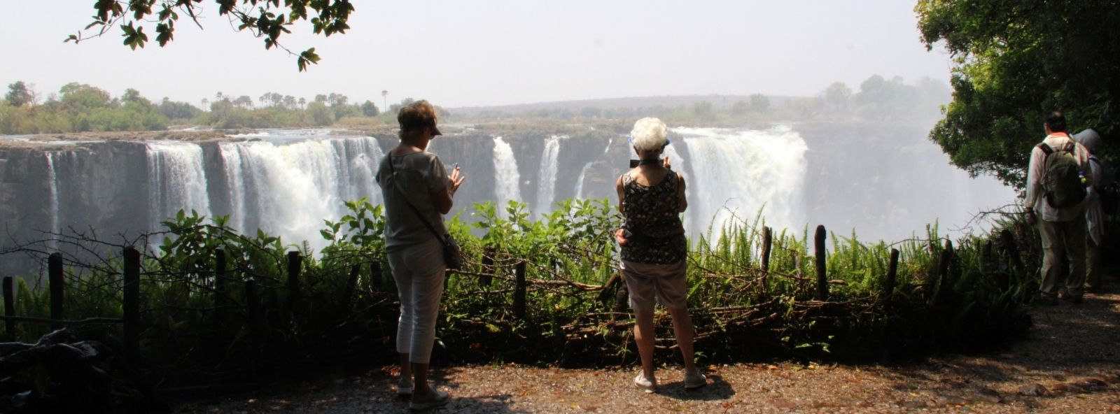 Alexandra's Africa guests enjoying the Victoria Falls
