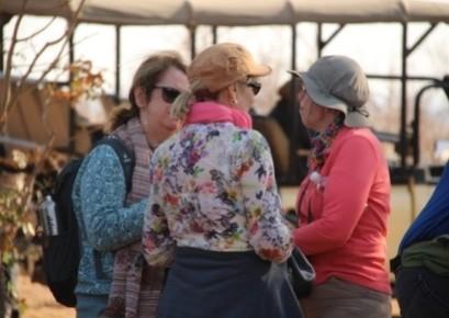 Ladies enjoying a chat on retreat